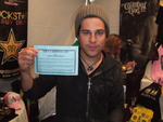 Ryan Cabrera with OPB Certificate. Copyright Open Book Press 2006