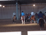 Horse Riding in the Stable at the Tulsa Expo