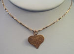 "14k Pink Gold ""Tie-Dye"" Heart Necklace"