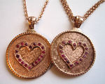 14k Pink Gold Coin Necklace
