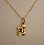 14k Baby Deer Necklace at FutureFashionista.com