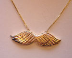 14K Angel Wings Necklace