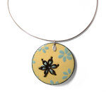 Flower Stitch Enamel Necklace