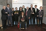 FITSA Award recepients with statues created by Angel Orensanz