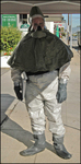 Anchor Audio's PortaCom Pro is a standard part of Sherman Oaks Hospital's decontamination suits.  Before the helmet is put on, the headset and microphone are attached to a belt or pocket and turned on.