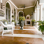Personalize your patio with decorative concrete