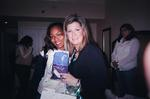 Angela Bassett with Swaddleaze inventor Heather Allard