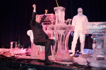 Tom Clarke Cheers with Ice Sculptors