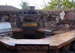 Outdoor Kitchens: Using concrete adds a durable, colorful dimension to outdoor kitchen amenities.
