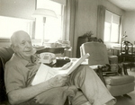 Professor Higbee age 91, reviewing proof of Stream Map