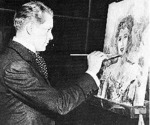 "Nelson Eddy's painting of Jeanette MacDonald was used in their movie ""Sweethearts"" (1938)"