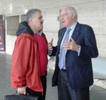Luis Aragones meets with his nephew, EduKick Spain's Anselmo Vicioso Aragones