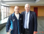 """EduKick V.P., Joey Bilotta meets with Spanish National Team Head Coach, Luis Aragones"""