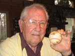 Robert J. Balthazar with Babe Ruth ball.