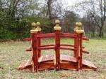 custom built 5 ft garden bridge with double rails