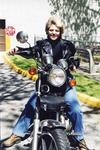Terri Vitale on her motorcyle