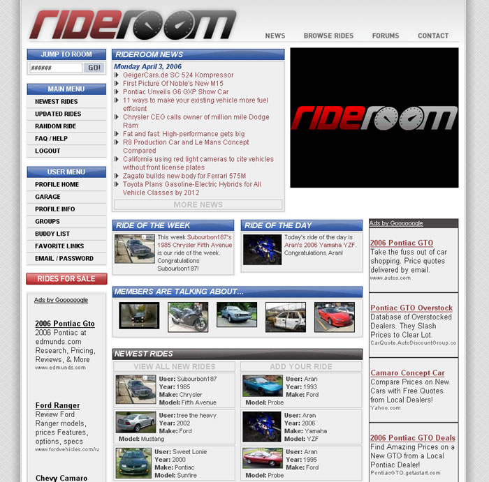 Rideroom, The Newest Automotive Social Networking Community