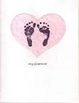 Tiny Footprints on a Mother's Heart Card