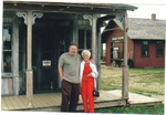 "Michael Jensen and his late mother Helen, his greatest supporter in every way, near Wall South Dakota, on another ""CD Journey"" Fall 2004 where CD sales support their travel."