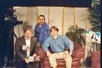 Michael Jensen, lower left, on site with Valley Access Channels Director Greg Piekarski in background, seated to right is Valley Access Channels Facility Specialist and Interviewer Jordan Simkins