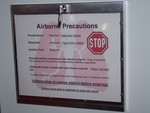 Isolation Room Sign Secure Display