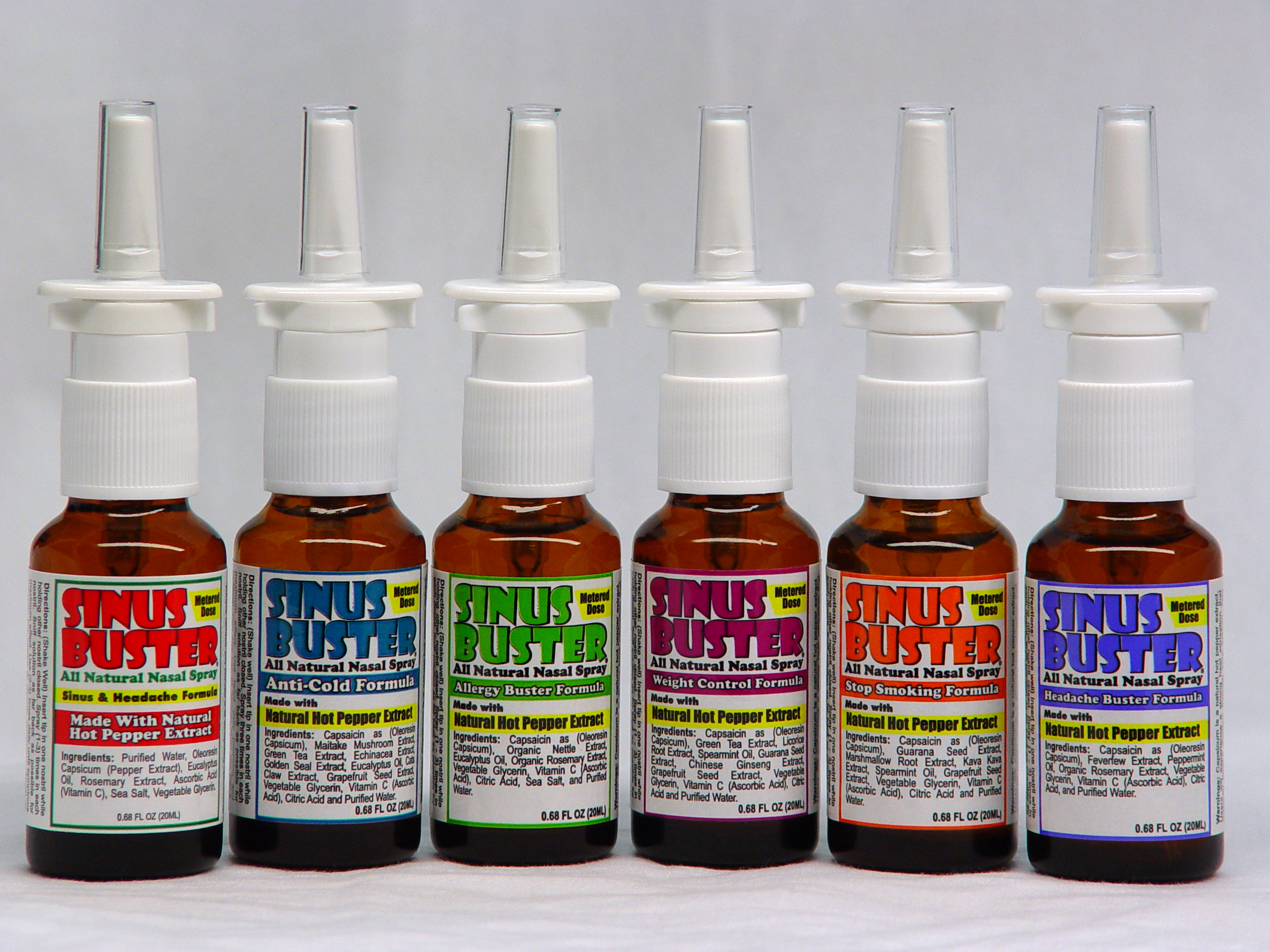 hot pepper nasal sprays sinus buster is the first name in hot pepper ...