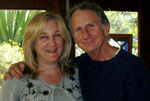 Event producer Deborah Shadovitz and guest host René Auberjonois