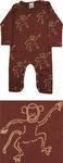 Brown monkey print bodysuit by IdaT