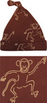 Brown monkey print hat by IdaT