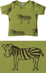 Green zebra print t-shirt by IdaT