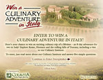 Olive Garden's Sweepstakes to Italy: Find out how to win a culinary adveture in Italy at www.olivegardenitalysweeps.com
