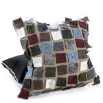 Felt, Linen and Leather Pillow