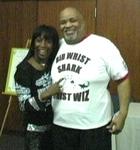 TV Star Kiki Shepard visits Bid Whist Tournament