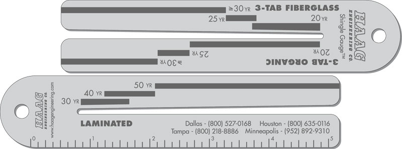 Haag Engineering Announces Shingle Gauge Revisions