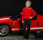 Lora Watts with Parnelli Jones' new Ford GT