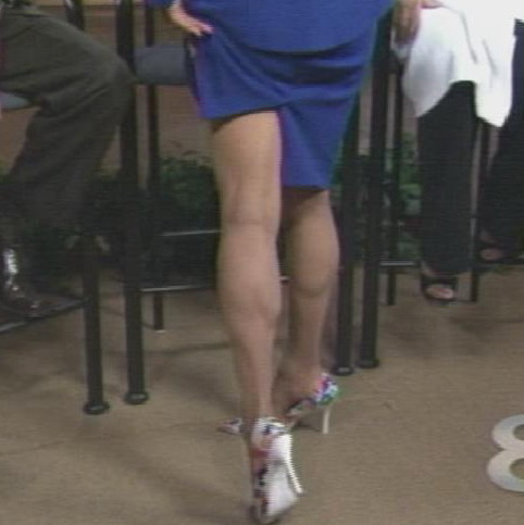 70 year old Victoria Morton shows off her legs on NBC's Daytime Show