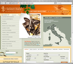 Select Italy's nominated website homepage.
