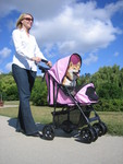 Happy Trails PLUS Pink Pet Stroller from JustPetStrollers.com