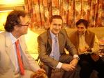 H E Dino Debeljuh and Mr. Niko Bulic with Mr. Dev Anand