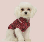 Stunning Multi-Red Fitted Sweater With Organza Bow Accent