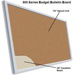 Budget Series Aluminum Framed Cork Bulletin Board