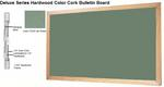 Deluxe Series Hardwood Color Cork Bulletin Board