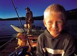 Fishing with Grandpa & Golden Retriever