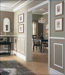 D-I-Y-ers can easily install crown moulding, wainscoting and fancy baseboards instantly adding elegance to any room.