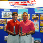John Carricarte and Sam Weidner, Jr with Awards