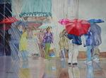 Rainy Window View by Roni Sumer