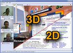 meeting3D screenshot 2D/3D