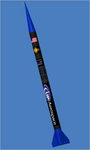 Photo of UP Aerospace's SpaceLoft XL sub-orbital rocket