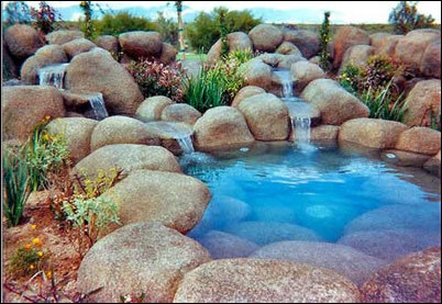 Concrete Artificial Rocks Make a Dramatic Yet Economical Landscape Statement - Concrete Artificial Rocks Make A Dramatic Yet Economical Landscape