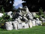 Faux rocks are a new trend in landscape design.